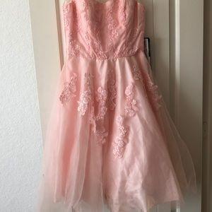 Pink formal dress sz 9/10 belt and hook is missing